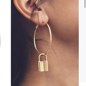 Styled collection brand new Golden Lock Hoops